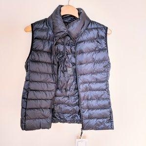 Ultra light down sweater vest - navy blue